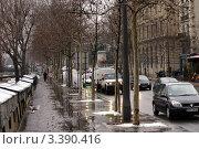 Франция, Париж дождливой зимой (2010 год). Редакционное фото, фотограф Виталий Тюлькин / Фотобанк Лори