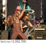 """Купить «Группа """"Mordor"""" на фестивале """"Нашествие 2009""""», фото № 3392700, снято 27 февраля 2020 г. (c) Константин Гуща / Фотобанк Лори"""