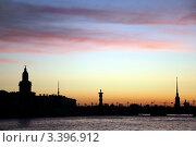 Купить «Белая ночь над Невой. Санкт-Петербург.», фото № 3396912, снято 27 июня 2009 г. (c) Светлана Кудрина / Фотобанк Лори