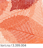 Красные осенние листья. Стоковая иллюстрация, иллюстратор Владимир / Фотобанк Лори