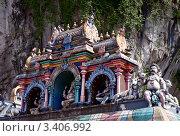 Купить «Крыша индуистского храма в Куала Лумпуре, Малайзия», фото № 3406992, снято 25 февраля 2012 г. (c) Евгений Прокофьев / Фотобанк Лори