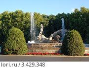 Купить «Фонтан Нептуна в Мадриде», фото № 3429348, снято 7 августа 2008 г. (c) Владимир Горощенко / Фотобанк Лори