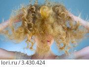 Купить «Девушка со спутанными кудрявыми волосами», фото № 3430424, снято 8 февраля 2009 г. (c) Эдуард Стельмах / Фотобанк Лори