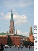 Никольская и Угловая Арсенальная башни (2011 год). Редакционное фото, фотограф Евгения Плешакова / Фотобанк Лори