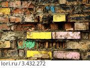 Старая кирпичная стена. Стоковое фото, фотограф Виниченко Ирина Николаевна / Фотобанк Лори