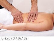Купить «Женщине делают массаж спины», фото № 3436132, снято 7 ноября 2010 г. (c) Андрей Попов / Фотобанк Лори