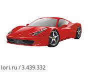 Красный спортивный автомобиль. Редакционная иллюстрация, иллюстратор Илья Афанасьев / Фотобанк Лори