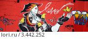 Купить «Граффити в Куала-Лумпур, Малайзия. Девушка и птицы», фото № 3442252, снято 2 апреля 2012 г. (c) Светлана Колобова / Фотобанк Лори