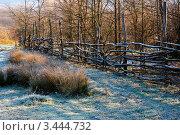 Плетеный забор в горах. Стоковое фото, фотограф Николай Белин / Фотобанк Лори