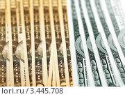 Купить «Фон из американских долларов», фото № 3445708, снято 8 ноября 2011 г. (c) ElenArt / Фотобанк Лори