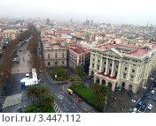 Панорама Барселоны (2012 год). Стоковое фото, фотограф Екатерина Ильина / Фотобанк Лори