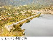 Дамба водохранилища Гермасойе, Кипр. Стоковое фото, фотограф Миронова Евгения / Фотобанк Лори