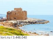 Турецкая башня в порту Пафоса, Кипр (2012 год). Стоковое фото, фотограф Миронова Евгения / Фотобанк Лори