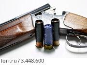 Купить «Охотничье ружьё и патроны», фото № 3448600, снято 30 января 2012 г. (c) Николай Мухорин / Фотобанк Лори