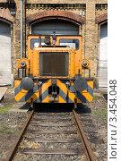 """Купить «Тепловоз """"BEWAG DL2"""" (Typ Jung RK 15 B). Выставка в локомотивном депо Шёневайде. Берлин, Германия», фото № 3454048, снято 14 апреля 2012 г. (c) Sergey Kohl / Фотобанк Лори"""