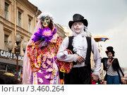 Участники флешмоба Дримфлеш 2012 на Старом Арбате, Москва, Россия. Редакционное фото, фотограф Николай Винокуров / Фотобанк Лори