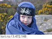 Мальчик в арафатке. Стоковое фото, фотограф Elena Strigoun / Фотобанк Лори
