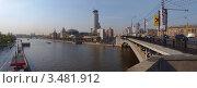 Купить «Панорама Вид на гостиницу Swissotel Красные Холмы и Московский международный Дом музыки через реку Москва», фото № 3481912, снято 30 апреля 2012 г. (c) SevenOne / Фотобанк Лори