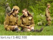 Купить «Девушки в форме», фото № 3482100, снято 30 апреля 2012 г. (c) Сергей Шевырев / Фотобанк Лори