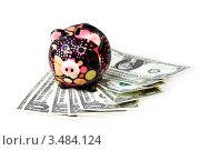 Купить «Свинья-копилка и доллары», фото № 3484124, снято 4 марта 2011 г. (c) ElenArt / Фотобанк Лори