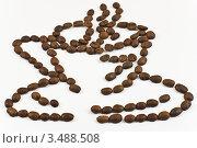 Чашка кофе из зерен. Стоковое фото, фотограф Инна Шевелёва / Фотобанк Лори