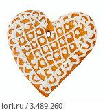 Купить «Пряничное сердце», фото № 3489260, снято 19 декабря 2011 г. (c) Jan Mikš / Фотобанк Лори