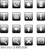 Набор иконок для веб сайта. Стоковая иллюстрация, иллюстратор Ольга Зайцева / Фотобанк Лори