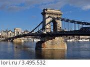 Будапешт.Цепной мост Сечени (2011 год). Редакционное фото, фотограф Igor5 / Фотобанк Лори
