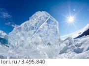 Замерзшее озеро Байкал. Стоковое фото, фотограф Serg Zastavkin / Фотобанк Лори