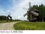 Купить «Мельница в Малых Карелах», фото № 3498592, снято 22 июня 2011 г. (c) Лия Покровская / Фотобанк Лори