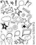 Рисованные каракули. Стоковая иллюстрация, иллюстратор Елена Назаркина / Фотобанк Лори