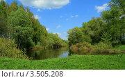 Купить «Весенний пейзаж, река Сейм», видеоролик № 3505208, снято 2 мая 2012 г. (c) ILLYCH / Фотобанк Лори