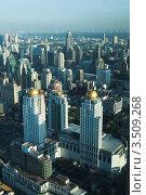 Купить «Вид с высоты на Бангкок», фото № 3509268, снято 27 июня 2008 г. (c) Владимир Целищев / Фотобанк Лори