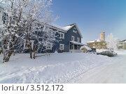 Купить «Отель Велт зимой, поселок Калевала, Карелия», фото № 3512172, снято 7 марта 2012 г. (c) Fro / Фотобанк Лори