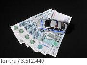 Купить «Деньги и автомобиль ДПС», эксклюзивное фото № 3512440, снято 3 февраля 2012 г. (c) Малышев Андрей / Фотобанк Лори