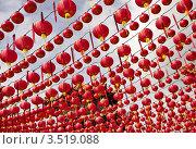 Купить «Китайские фонарики в дворце Thean Hou, Куала Лумпур, Малайзия», фото № 3519088, снято 3 марта 2012 г. (c) Евгений Прокофьев / Фотобанк Лори
