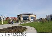 Купить «Вид баскет-холла из парка Тысячелетия в Казани», фото № 3523560, снято 5 мая 2012 г. (c) Ирина Андреева / Фотобанк Лори