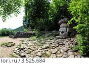 Дольмены долины реки Жане, фото № 3525684, снято 16 августа 2017 г. (c) Игорь Архипов / Фотобанк Лори
