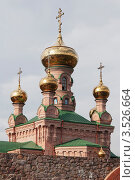 Купить «Церковь в Свято-Покровском монастыре в Киеве (Голосеевская пустынь)», фото № 3526664, снято 21 апреля 2012 г. (c) Онищенко Виктор / Фотобанк Лори