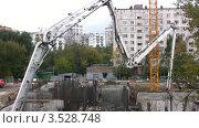 Купить «Строительная площадка в городе», видеоролик № 3528748, снято 3 октября 2008 г. (c) Losevsky Pavel / Фотобанк Лори