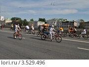Купить «Москва, 20 мая. Велопарад «Let's bike it!»», эксклюзивное фото № 3529496, снято 20 мая 2012 г. (c) lana1501 / Фотобанк Лори