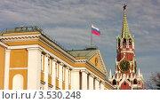 Купить «Спасская башня на территории Кремля», видеоролик № 3530248, снято 17 ноября 2008 г. (c) Losevsky Pavel / Фотобанк Лори