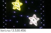 Купить «Неоновая вывеска. Звезды», видеоролик № 3530456, снято 27 ноября 2008 г. (c) Losevsky Pavel / Фотобанк Лори
