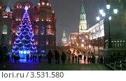 Купить «Новогодняя елка на Красной площади», видеоролик № 3531580, снято 18 января 2009 г. (c) Losevsky Pavel / Фотобанк Лори