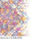 Купить «Абстрактный фон из разноцветных квадратов с местом для текста», иллюстрация № 3536016 (c) Svetlana V Bojan / Фотобанк Лори