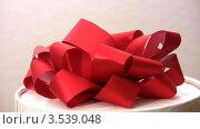 Купить «Подарочная коробка с красным бантом», видеоролик № 3539048, снято 15 апреля 2009 г. (c) Losevsky Pavel / Фотобанк Лори
