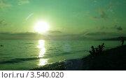 Купить «Вечер на пляже, таймлапс», видеоролик № 3540020, снято 29 июля 2009 г. (c) Losevsky Pavel / Фотобанк Лори