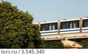 Купить «Монорельс на фоне городского пейзажа», видеоролик № 3545340, снято 28 октября 2009 г. (c) Losevsky Pavel / Фотобанк Лори