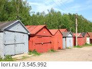 Купить «Гаражи», эксклюзивное фото № 3545992, снято 20 мая 2012 г. (c) АЛЕКСАНДР МИХЕИЧЕВ / Фотобанк Лори