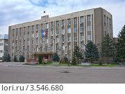 Здание администрации Буденновска (2012 год). Стоковое фото, фотограф Андрей Ижаковский / Фотобанк Лори